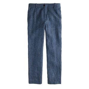J.Crew shiny navy linen pants
